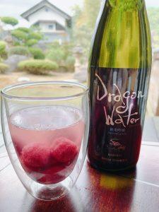 アイスの実と日本酒ドラゴンウォーター白竜
